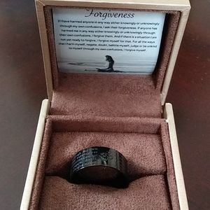 Forgiveness ring by Roundins unisex